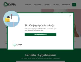 lyfja.is screenshot