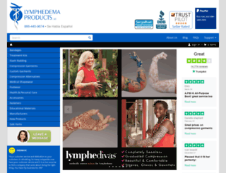 lymphedemaproducts.com screenshot