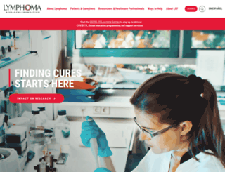 lymphoma.org screenshot