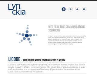 lynckia.com screenshot