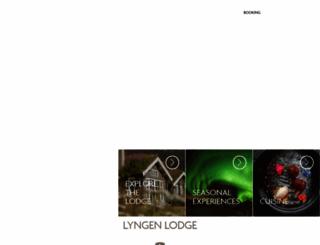 lyngenlodge.com screenshot