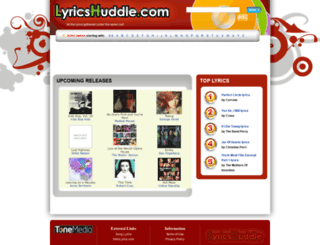lyricshuddle.com screenshot