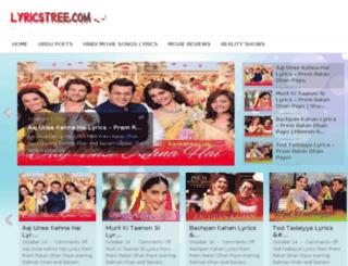 lyricstree.com screenshot