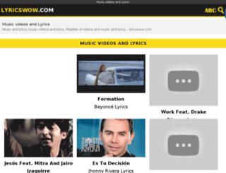 lyricswow.com screenshot
