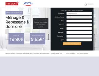 m.100pour100menage.fr screenshot