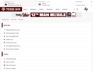 m.12thman.com screenshot