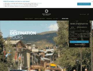 m.destinationhotels.com screenshot