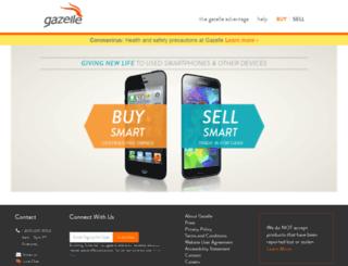 m.gazelle.com screenshot
