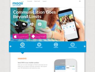 m.maaii.com screenshot