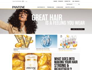 m.pantene.com screenshot