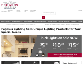m.pegasuslighting.com screenshot