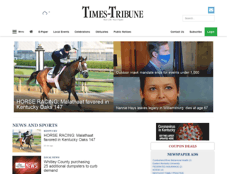 m.thetimestribune.com screenshot