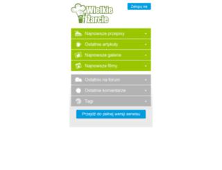 m.wielkiezarcie.com screenshot