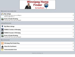 m.winnipeghomefinder.com screenshot