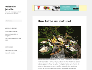 ma-table-en-jetable.fr screenshot