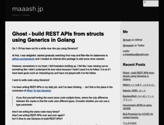 maaash.jp screenshot