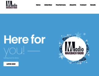 maasbachradio.com screenshot