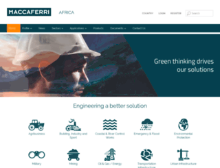 maccaferri.co.za screenshot