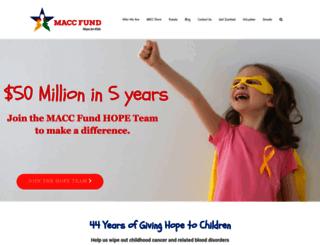 maccfund.org screenshot
