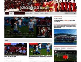 macedonianfootball.com screenshot