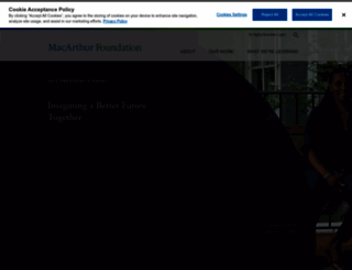 macfound.org screenshot