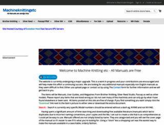 machineknittingetc.com screenshot
