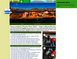 machupicchu.com.pe screenshot