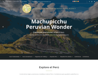 machupicchuperuvianwonder.com screenshot