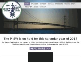 mackinacislandsongwritersworkshop.org screenshot