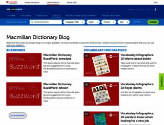 macmillandictionaryblog.com screenshot