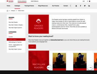 macmillanreaders.com screenshot