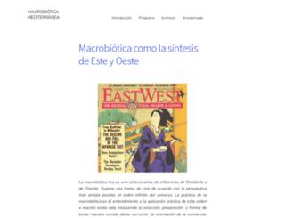 macrobioticamediterranea.es screenshot