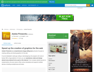 macromedia-fireworks.en.softonic.com screenshot