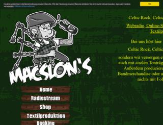 macslons-irish-pub-radio.com screenshot