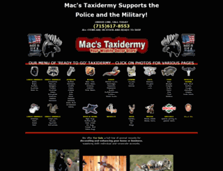 macstaxidermy.com screenshot