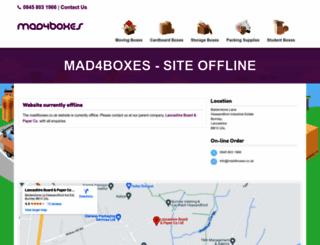 mad4boxes.co.uk screenshot