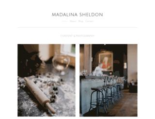 madalinasheldon.com screenshot