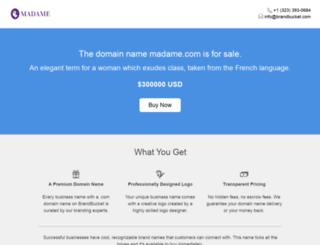 madame.com screenshot