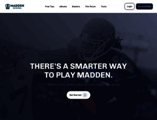 madden-school.com screenshot
