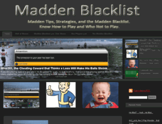 maddenblacklist.com screenshot