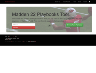 maddenfocus.com screenshot