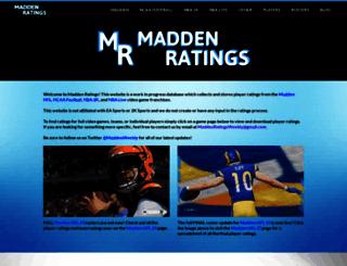 maddenratings.weebly.com screenshot