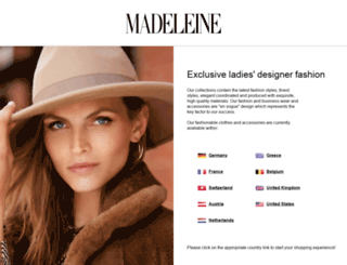 madeleine-mode.com screenshot