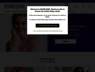 madeleine.fr screenshot