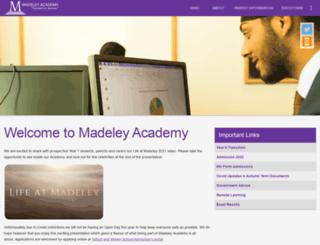 madeleyacademy.com screenshot
