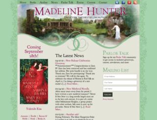madelinehunter.com screenshot