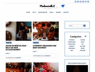 mademoiselle-e.fr screenshot