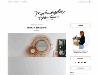 mademoiselleclaudine-leblog.com screenshot