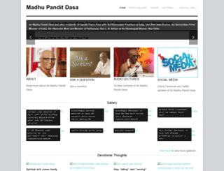 madhupanditdasa.info screenshot
