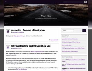 madhurendra.com screenshot
